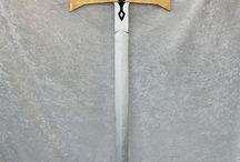 Espadas. Medievales. Madera. / Espadas medievales de madera. Artesanales. Hechas a mano. Replicas de espadas famosas. Cosplay. Complementos medievales.