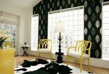 Żółte inspiracje, dekoracje / Yellow interior design