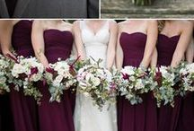 Gray and Plum Wedding Color Inspirations