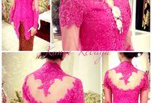 Kebaya shocking pink / Kebaya