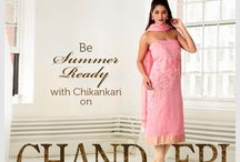 Chikankari On Chanderi / Welcome Summers in style! From our exclusive Chikan Couture line, we bring you another bespoke collection – Chikankari on Chanderi. This unique collection is specially curated for the perfect amalgamation of dexterous Chikankari with the delicate texture of Chanderi fabric.  Get that flawless swadeshi look this summer. Check out our collection.