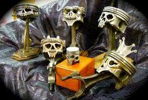 piston skulls handmade
