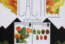 Známky kaktusov, sukulentov, kaudexov a pod. / O poštových známkach