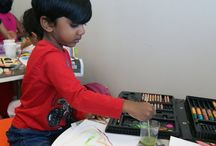 Indian women in Finland, children art competition