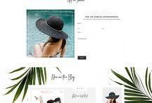 Wordpress Themes / Wordpress Themes | Blog Theme | Website Design | Website Theme | Blog Design | Website Design | Wordpress Inspiration | Minimal Design | Floral Design | Digital
