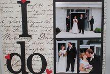 Wedding scrapbook pages