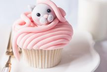 Cupcakes that look like cats