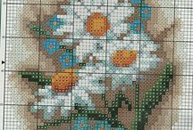 DASY-FLOWERS* CROSS STITCH-EMBROIDERY