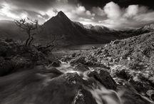 landscape photography balack & white Wales