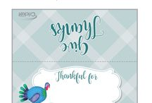 Thanksgiving Day Printable Place Cards