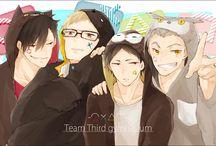 Kuroo, Tsukishima, Bokuto and Akaashi :>