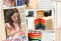 Rainbow theme bday