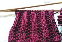punto de lana a dos agujas
