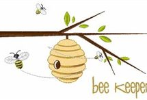 Little Green Bees embroidery Design / by Becca