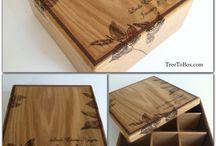 Woodburned custom boxes  / Custom boxes