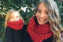 Mom & daughter crochet