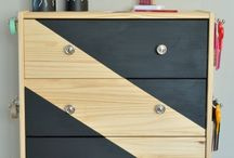 geometric painted drawers