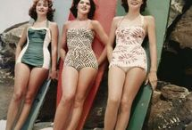 50's swimwear ❤ / When it comes to swimwear I wear a modest one-piece.  It's not always easy to find a cute one unfortunately.  With my love for the 50's, and inspired one is perfect!!! / by MacKayla Testerman