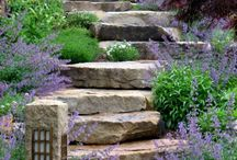 garden stairs (samples) / This is a selection of garden stairs found on the internet. Deresch Landscaping is/was NOT involved in any of these projects.