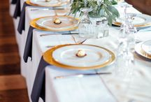 Navy and gold weddings