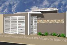 fachada da casa e muros