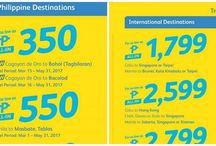 Travel Philippines Promo / Philippine travel promo fares.  Seat sales - Cebu Pacific, Philippine Airlines (PAL), Cebu Pacific.   Discounts - Manila, Cebu, Davao, Iloilo, Clark, Palawan, Boracay flights