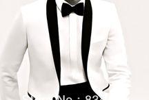 White jacket tuxedo