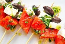 Easy Skewer Recipes / Our skewers are perfect for adding something special to these great recipes. These bamboo picks are topped with a silver or black ball.  Find them here... http://www.simplybaked.us/product/skewers/