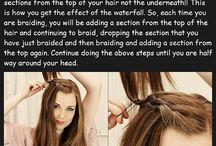 the way to make quick waterfall braid