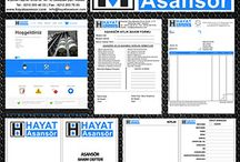 Kurumsal Kimlik / Web tasarım Kartvizit tasarım Logo tasarım Fatura tasarım Bakım formu Bakım defteri