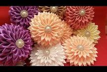květiny  kanzashi