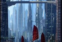 Futuristic Architecture / Futuristic cities, buildings, homes.  What living on Earth and elsewhere could be like 20, 50, 100, 1000 years in the future.