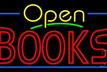 Books Open Neon Signs