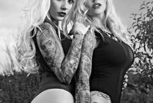 Bad girls with tattoos