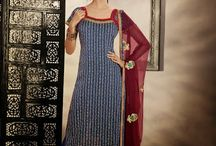 Party Wear Suits Collection / A huge sparkling collection of Indian ethnic wear in our attention-grabbing online showroom whose variety is growing every month. online shopping store for Saree,   Salwar Suits, Lehengas, Jewellery, Kids Wear at best price. ## http://goo.gl/Vgjvio