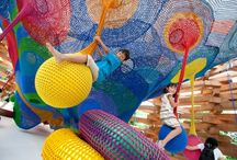 Knitted Playground in Japan