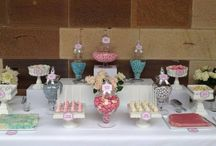 Pink, silver & white wedding lolly buffet / candy buffet / Pink, silver & white wedding lolly buffet / candy buffet. Styled by Sugarlicious Parties. www.sugarlicious.com.au. www.facebook.com/SugarliciousParties.