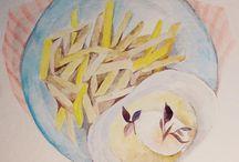 Youth Watercolour Menu / watercolour menu