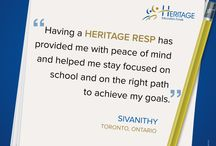 Testimonial  / Infographics of our Heritage Education Funds Alumni.