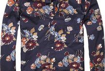 Men's casual shirt Flower