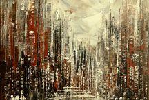abstraktné maľby