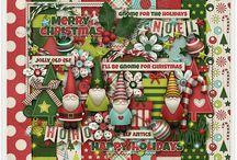 Gnome for the Holidays / http://scraporchard.com/market/Digital-Scrapbook-Kit-Gnome-for-the-Holidays.html