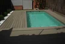 Professional Composite Decking / Our Professional range has excellent slip resistance with a timber appeal on both sides, is the Safest decking & has 2 usable sides. Comes in lengths of 2.44m, 3.66m & 4.88m, is  24mm thick & 133mm wide.