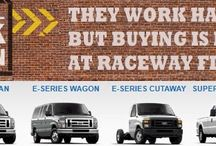 Raceway Ford Commercial Fleet Sales / If you use a truck for work in any way you need to contact our man Bill Chamberlain and his crew! From light duty F-150 up to Super Heavy Duty F-650's they can help!  We are well stocked with Utility Trucks, Stake beds, Contractor Trucks, Box Trucks, Pickup Trucks, Cargo Vans and Transit Connect Cargo Vans. Whether you have a fleet of one or a fleet of 100 they would like to sell you your next vehicles.  800-734-0084 / by Raceway Ford