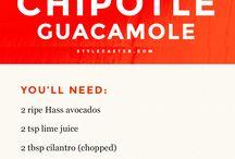 Recipes, dips