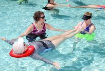Nekdoodle® Aquatic Therapy / Aquatic therapy refers to treatments and exercises performed in water for relaxation, fitness, physical rehabilitation, and other therapeutic benefit. Typically a qualified aquatic therapist gives constant attendance to a person receiving treatment in a heated therapy pool.  The Nekdoodle® is used by aquatic therapists worldwide.