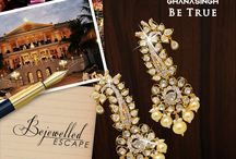 """Bejewelled Escape / """"Destination Wedding is a fun getaway. It is romantic and the summer destination weddings are usually set in exotic locations. The jewellery from Ghanasingh Be True is designed keeping in mind the bridal trousseau that she can use even after wedding  and turns out to be a feasible buy,"""" says Gautam Ghanasingh of Ghanasingh Be True."""