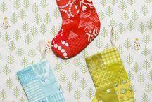 "Small Christmas stocking 2.5"" squares"
