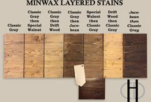 Wood stain colours