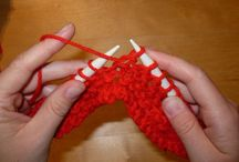 Knitting and knitting projects